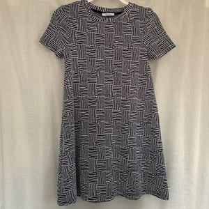 Zara Trafaluc Dress Geometric Pattern A Line